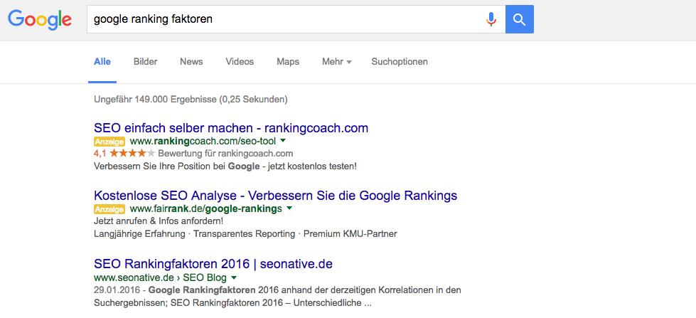 google seo rankingfaktoren