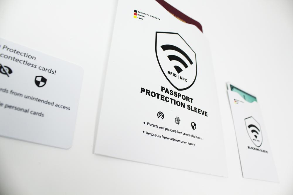 rfid blocker karte, reisepass hülle, kreditkarten schutzhülle